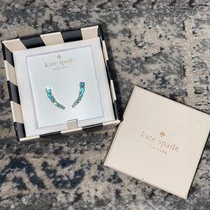 Kate Spade Aqua Crawler Earrings